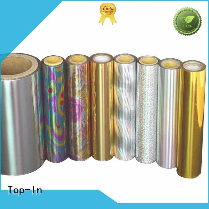 Top-In holographic foil series for medicine boxes