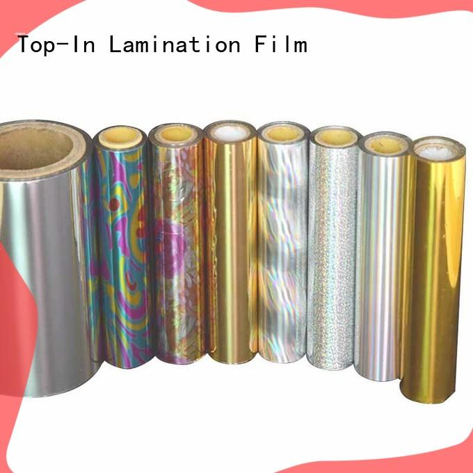 Top-In glitter holographic film manufacturer for cigarette packets