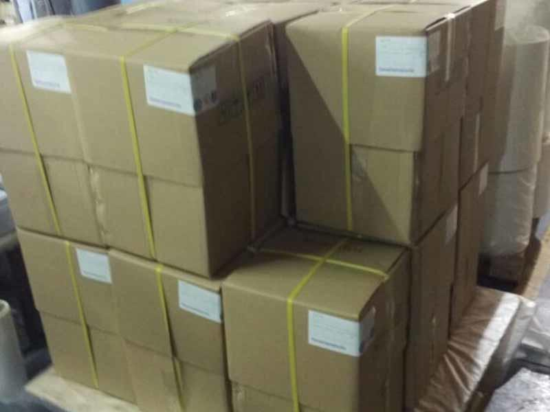 Carton & bells double strong package for bopp film 27mic matt and glossy to Ukraine market