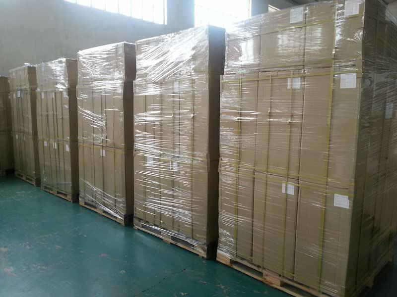Finished product 25mic glossy packed with pallets ready to ship to Russia market