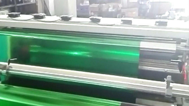 Green toner foil slitting