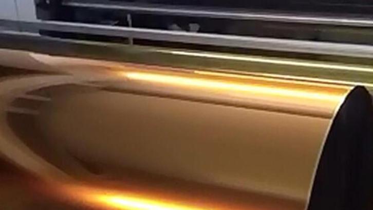 Toner foil gold slitting
