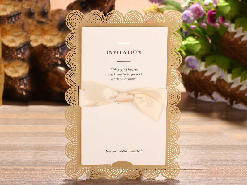 Rose foil for invitation