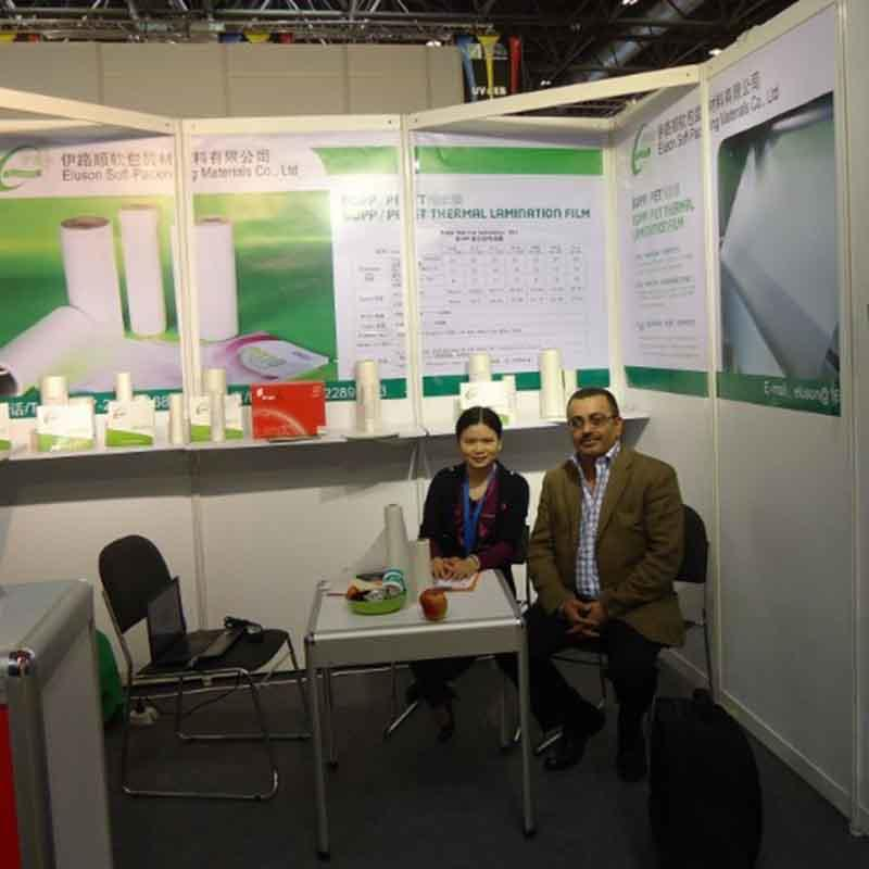 Customer from Jodan consults about bopp lamianting film in Printing South China Exhibition 2015