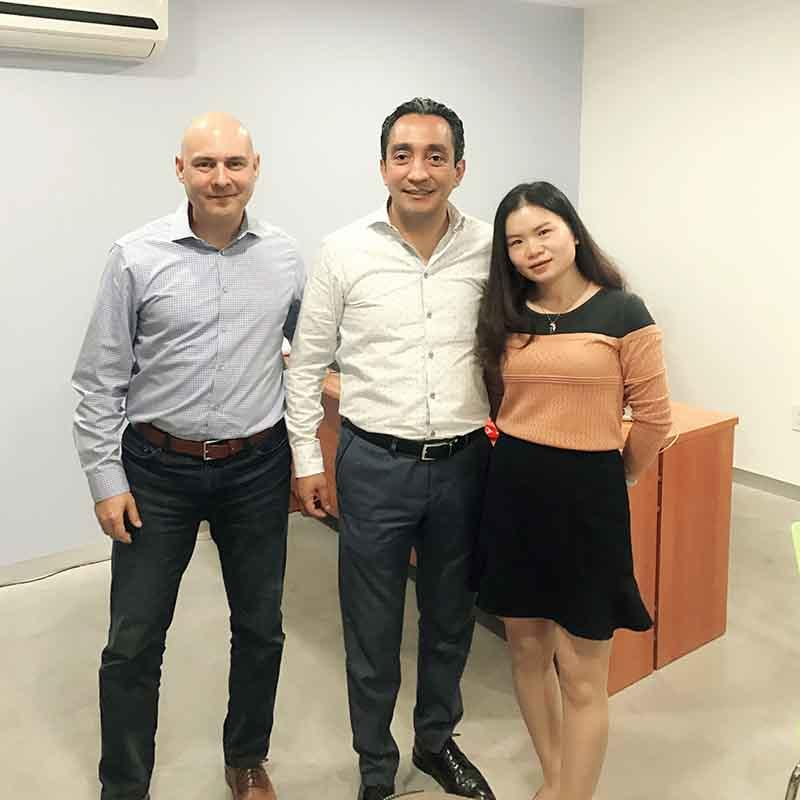 Customer from Mexico visit our fatory to consults about bopp snow white film