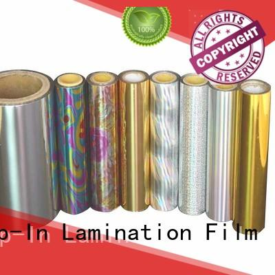 Top-In 23mic holographic lamination film for toothpaste boxes