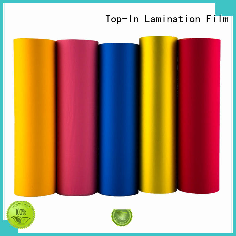food transparent different colors school soft touch lamination film Top-In Brand