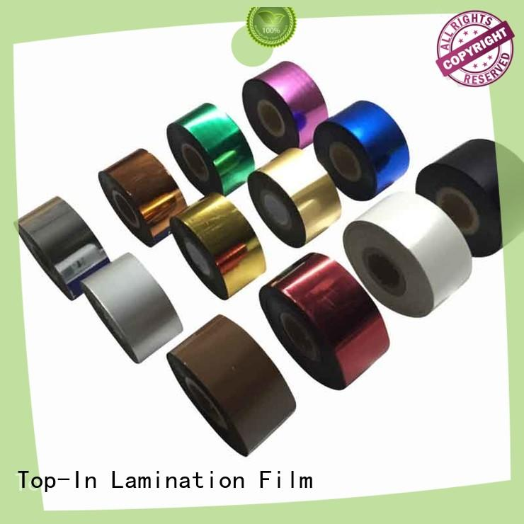 Top-In colorful hot stamping foil manufacturer for certificates