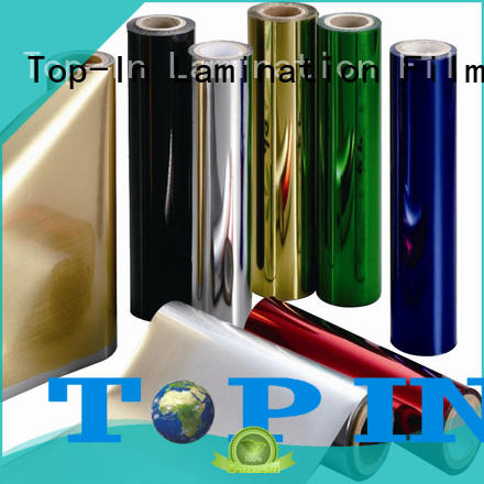 Top-In Brand gold wrapping flowers metalized polyester film