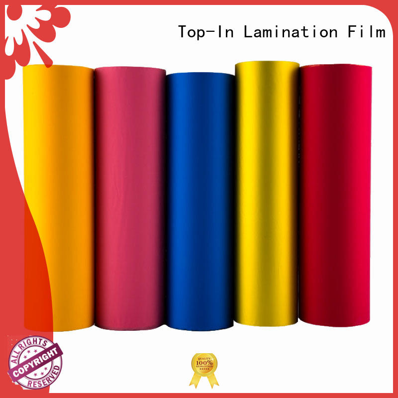 Custom school easy to operate soft touch film Top-In different colors