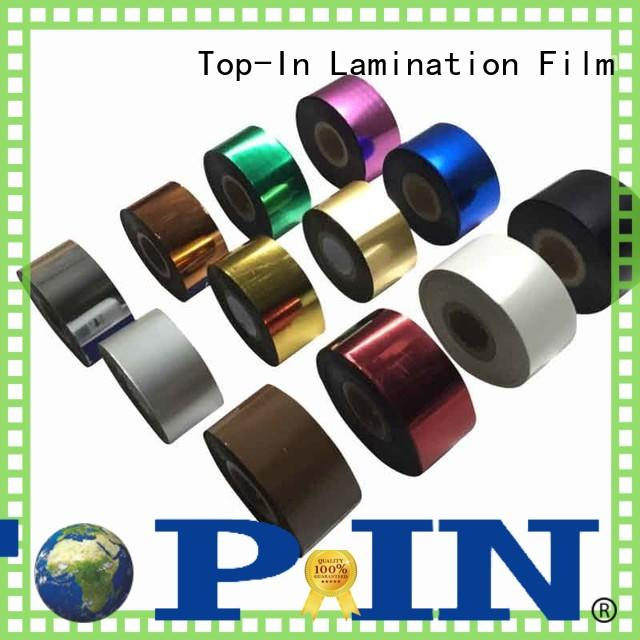 Top-In Toner foil factory for certificates