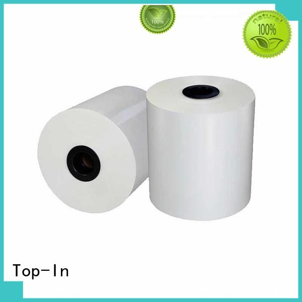 Top-In white bopp personalized for posters