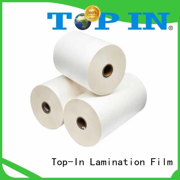 Custom broad compatibility glossy finish bopp lamination Top-In excellent bonding