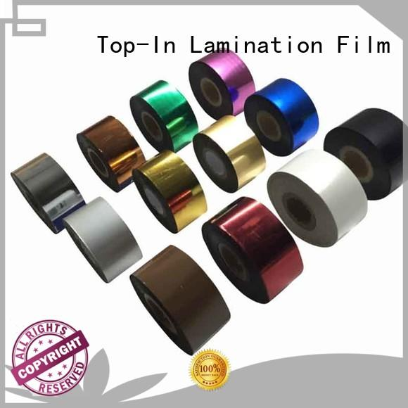 Top-In efficient heat transfer film transfer for wedding cards