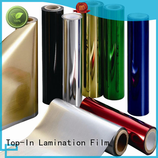 Top-In blue metallic film factory for decoration