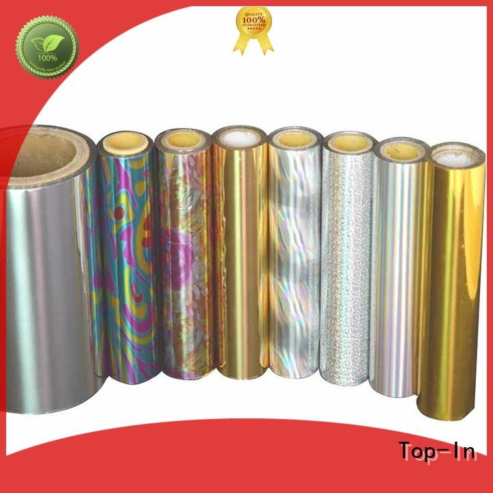 Top-In laser film design for gift-wrapping paper