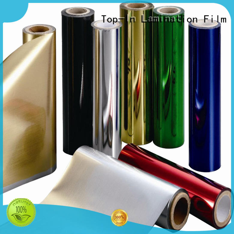 Top-In gold pet film well designed for decoration