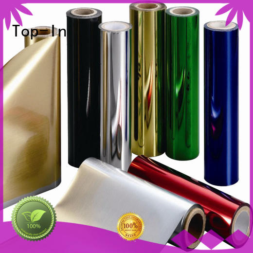 Top-In Brand decoration silver alcohol packaging custom metalized polyester film