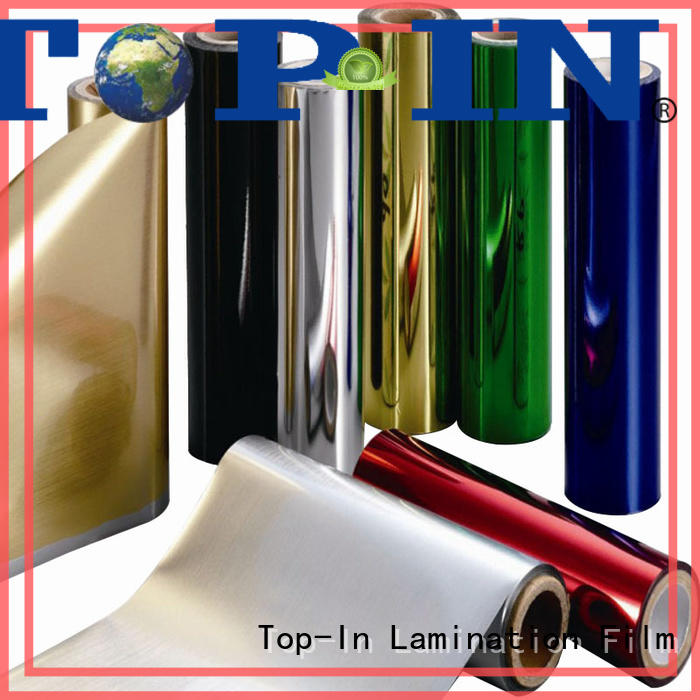 Top-In 20mic pet foil at discount for alcohol packaging