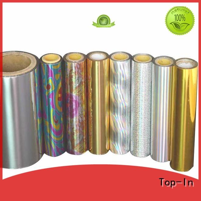 Top-In holographic foil from China for toothpaste boxes