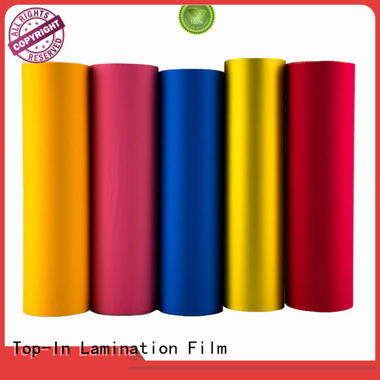 Top-In soft touch film customized for luxury packaging