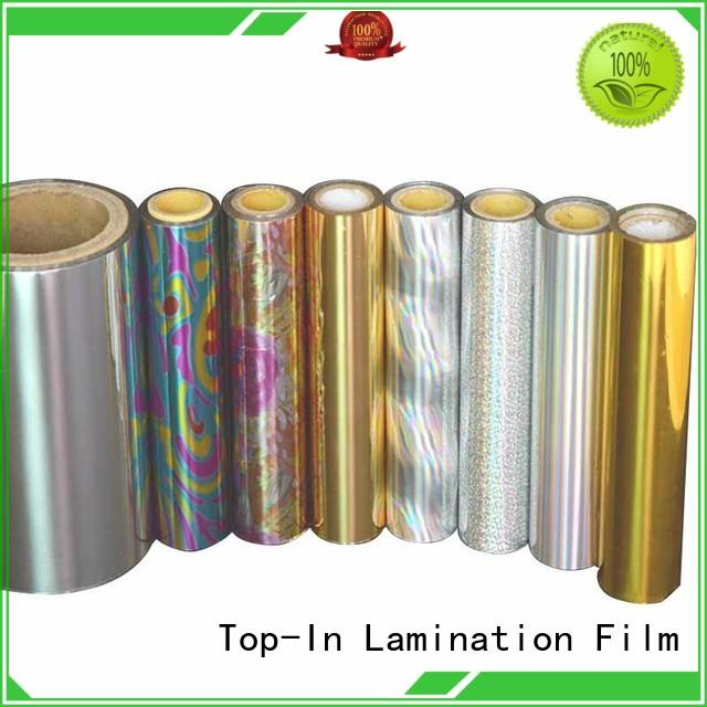 Top-In 23mic laser film manufacturer for cigarette packets