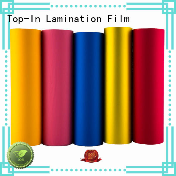 Top-In 30mic soft touch film personalized for bags
