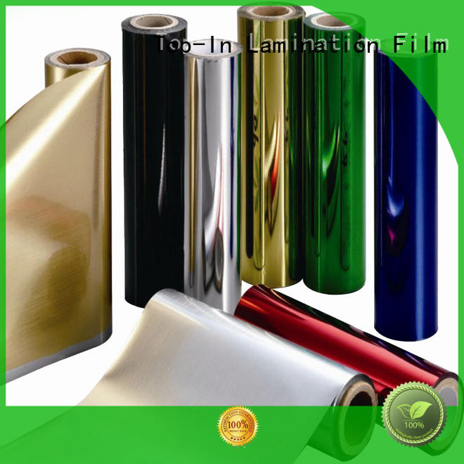 Top-In gold pet film wholesale for alcohol packaging