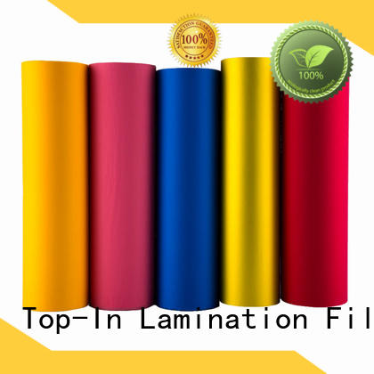 Top-In soft touch film supplier for luxury packaging