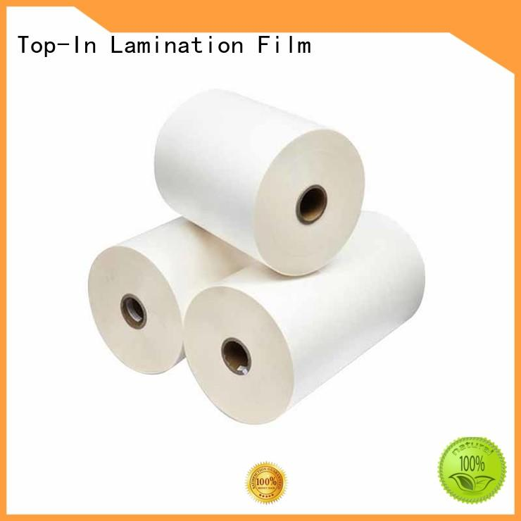 Top-In 15mic30mic bopp thermal lamination film design for magazines