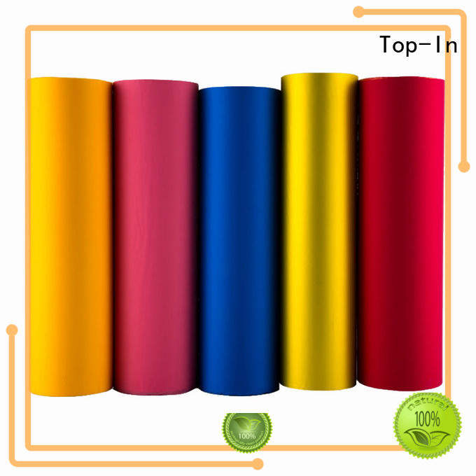 different colors Custom food transparent soft touch film Top-In easy to operate
