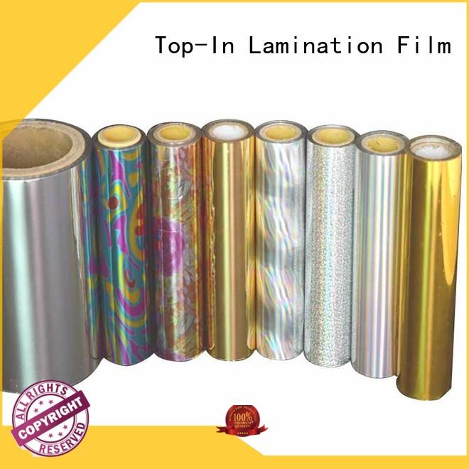 film holographic lamination film manufacturer for cigarette packets Top-In
