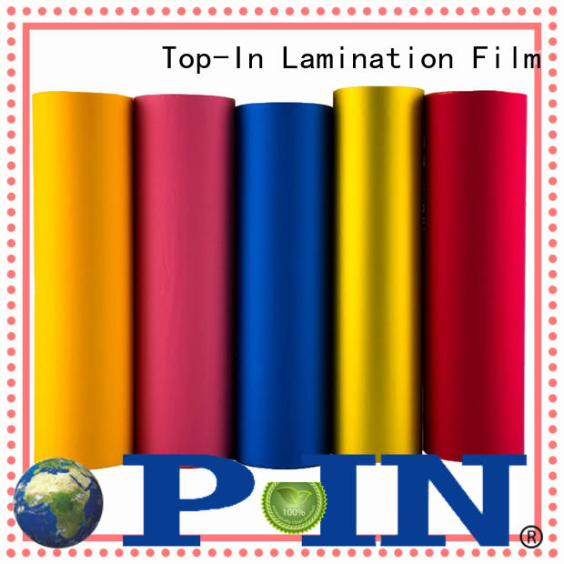 Top-In stable soft touch film different for advertising prints