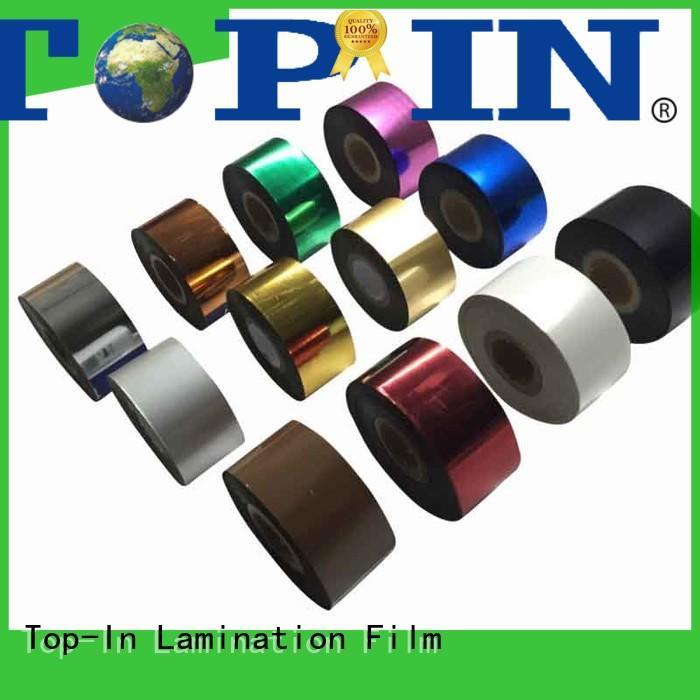 Top-In colors heat transfer foil manufacturer for certificates