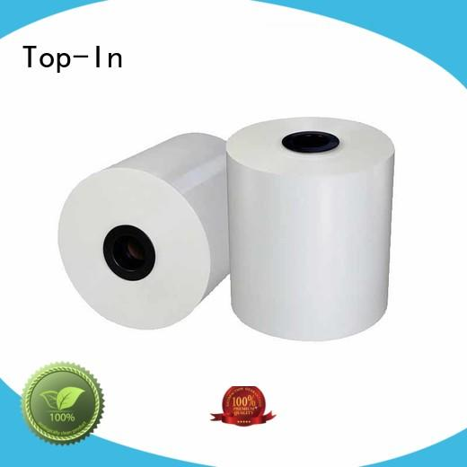Top-In 18mic30mic bopp white film directly sale for book covers