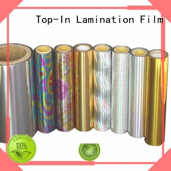 Top-In durable holographic foil factory for gift-wrapping paper