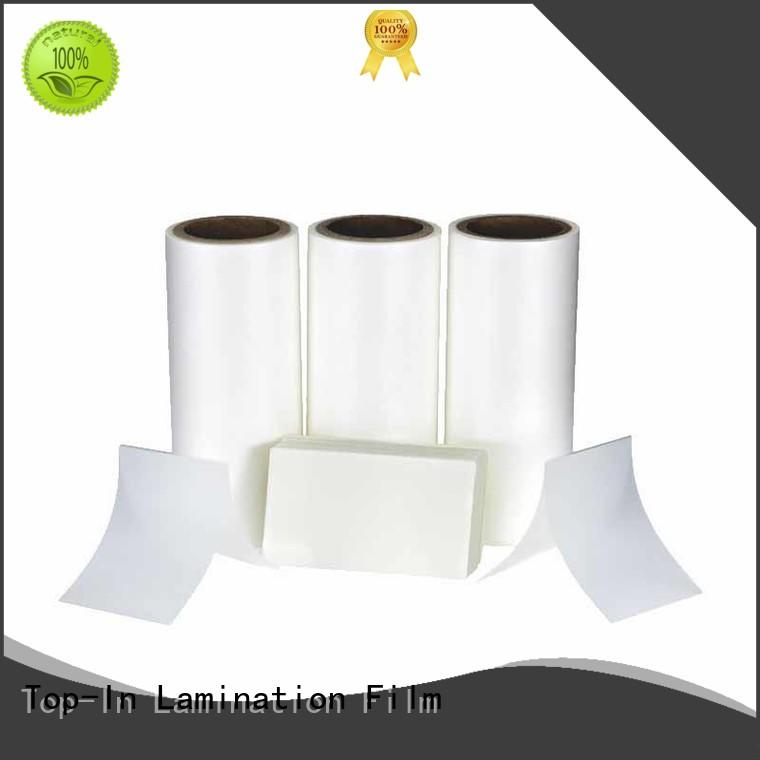Top-In coated Anti-scratch film promotion for brochures