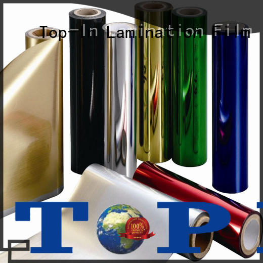 Top-In 20mic pet foil customized for alcohol packaging