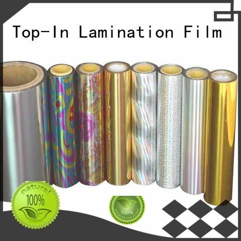 Top-In flexible bopp holographic film bopp for gift-wrapping paper