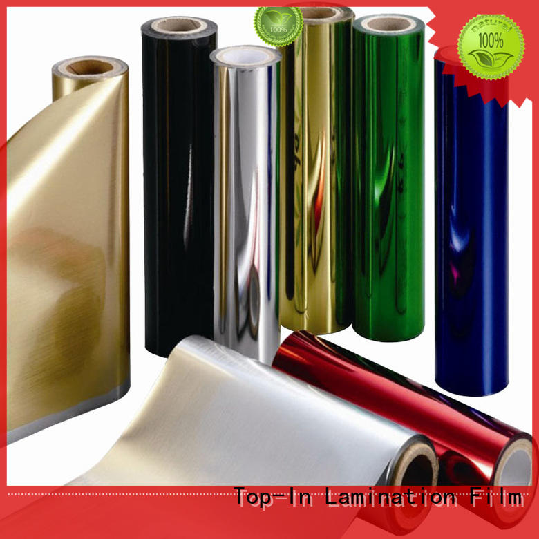 Top-In ultraviolet-proof metallic film personalized for decoration