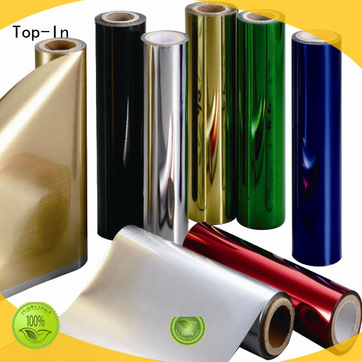 Top-In metallic film personalized for alcohol packaging