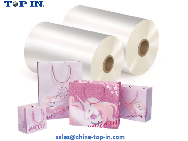 Bopp Thermal Laminate Film 25mic used for gift bag.