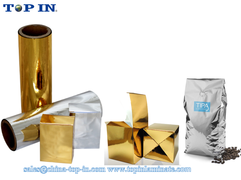 Metallic film /PET metalized thermal lamination film