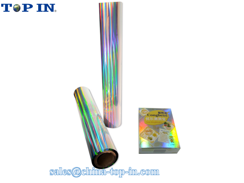 Seamless Holographic Rainbow Film/ Metalized BOPP Holographic Thermal Lamination Film