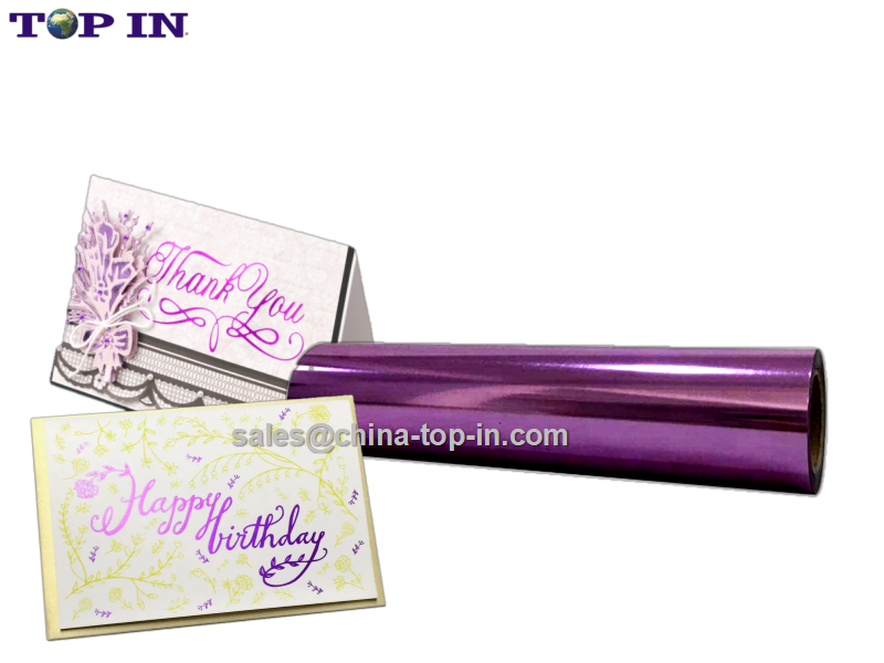 New Pattern-Digital Hot Sleeking Purple Foil