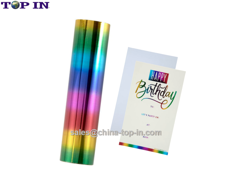 Digital Hot Sleeking Foil-Rainbow Pattern