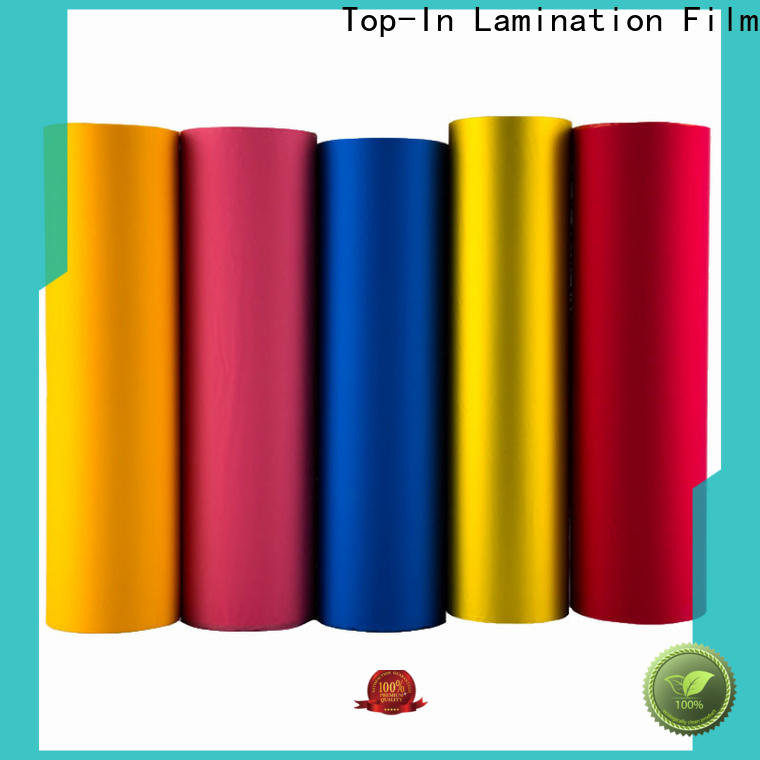 Top-In pink soft touch film well designed for bags