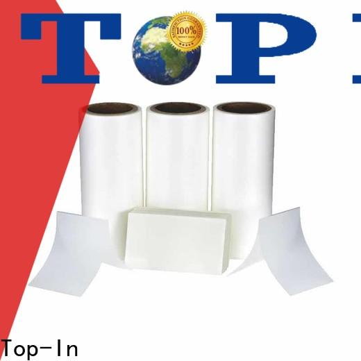 Top-In coated thermal lamination film series for brochures