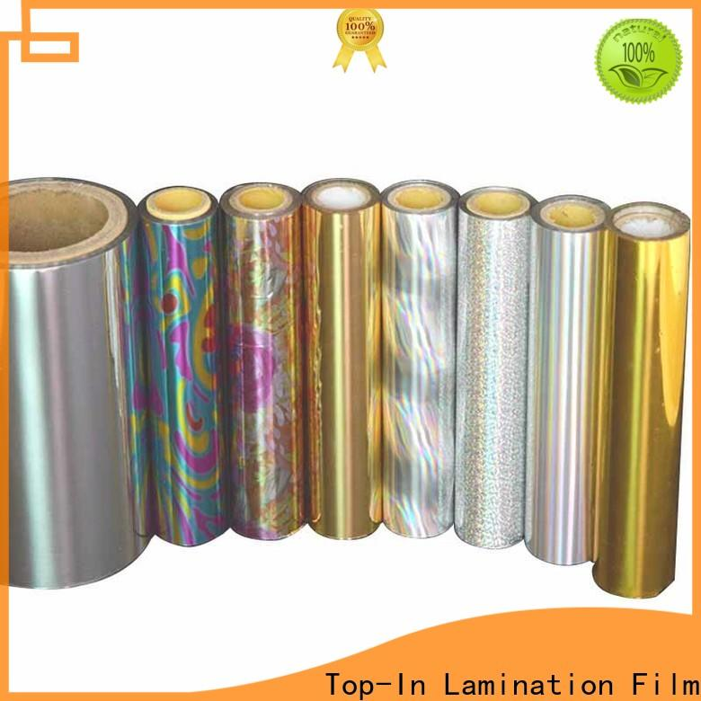 Top-In holographic foil manufacturer for medicine boxes