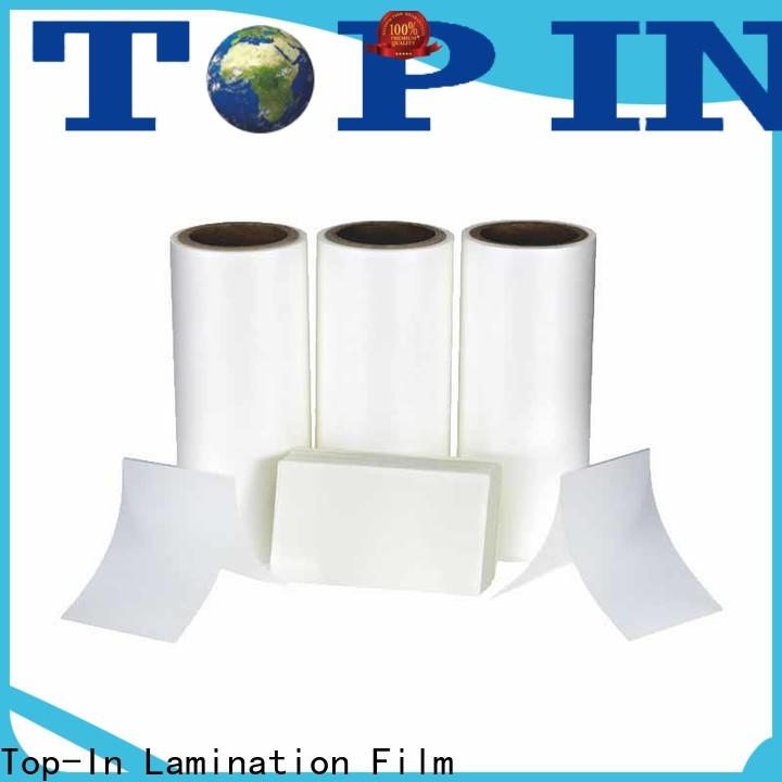 Top-In coated thermal bopp film customized for paper box